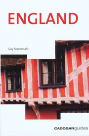 Cover of: England (Cadogan Country Guides) | Guy Macdonald