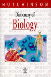 Cover of: Hutchinson Dictionary of Biology | Michael Upshall