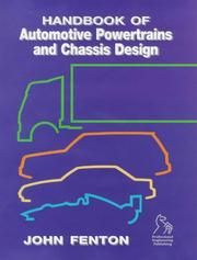 Cover of: Handbook of Automotive Power Train and Chassis Design | Dowson Duncan