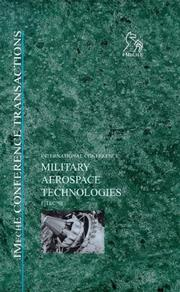 Cover of: Military Aerospace Technologies - FITEC '98 (Imeche Event Publications) | IMechE (Institution of Mechanical Engineers)