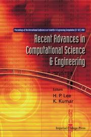 Cover of: Recent Advances in Computational Science and Engineering | H. P. Lee