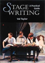 Cover of: Stage Writing | Val Taylor
