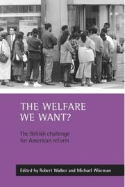 Cover of: The Welfare We Want | Michael Wiseman