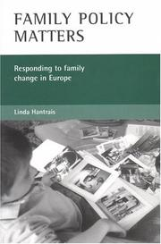 Cover of: Family policy matters | Linda Hantrais