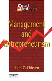 Cover of: Management and Entrepreneurism (Smart Strategies) | John Chicken