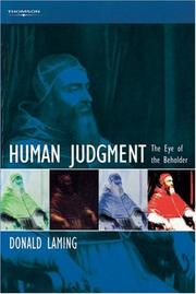 Cover of: Human Judgment | Donald Laming