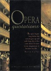 Cover of: Opera Quotations (A Helen Exley Giftbook) | Helen Exley