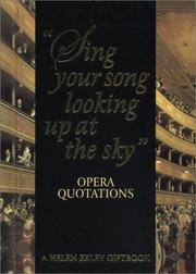 Cover of: Opera Quotations (Helen Exley Giftbooks) by Helen Exley