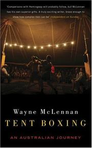 Cover of: Tent Boxing | Wayne McLennan