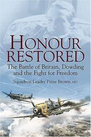 Cover of: HONOUR RESTORED | Sqn Ldr Peter Brown AFC