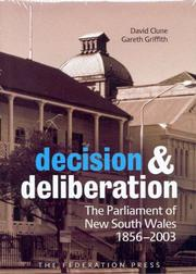 Cover of: Decision and deliberation | David Clune, Gareth Griffith