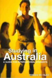 Cover of: Studying in Australia by Teresa De Fazio