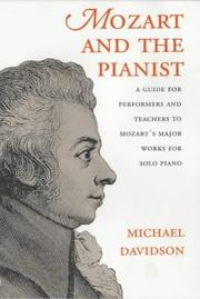 Cover of: Mozart and the Pianist by Michael Davidson