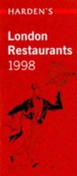 Cover of: Harden's London Restaurants 1998 (Hardens Guide) | Richard Harcden