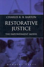 Cover of: Restorative justice by Charles K. B. Barton