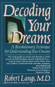 Cover of: Decoding Your Dreams | Robert Md Langs