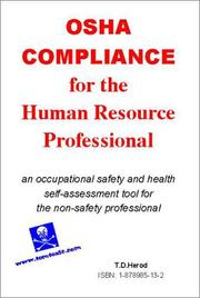 Cover of: OSHA Compliance for the Human Resources Professional | T. D. Herod
