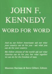 Cover of: John F. Kennedy, word for word | John F. Kennedy