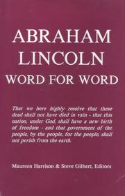Cover of: Abraham Lincoln, word for word by Abraham Lincoln