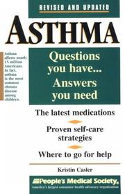 Cover of: Asthma | Kristin Casler
