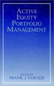Cover of: Active Equity Portfolio Management | Frank J. Fabozzi