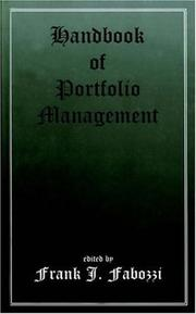 Cover of: Handbook of Portfolio Management | Frank J. Fabozzi