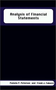Cover of: Analysis of Financial Statements by Frank J. Fabozzi