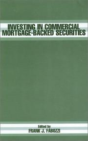 Cover of: Investing In Commercial Mortgage-Backed Securities by Frank J. Fabozzi
