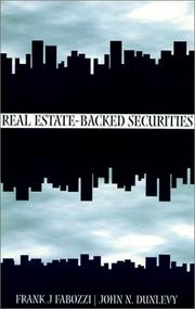 Cover of: Real Estate Backed Securities by Frank J. Fabozzi