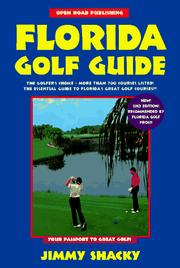 Cover of: Open Road's Florida Golf Guide by Jimmy Shacky