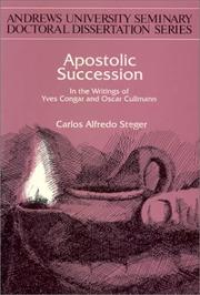 Cover of: Apostolic Succession | Carlos Alfredo Steger