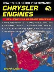 Cover of: How to Build High Performance Chrysler Engines (S-A Design) | Frank Adkins