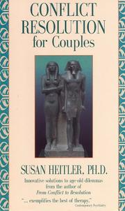 Cover of: Conflict Resolution for Couples by Susan, Ph.D. Heitler