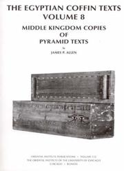 Cover of: The Egyptian Coffin Texts by James P. Allen