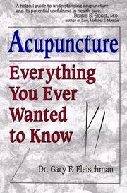 Cover of: Acupuncture by Gary F. Fleischman