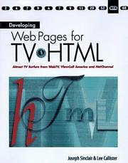 Cover of: Developing Web Pages for Tv-Html | Joseph T. Sinclair
