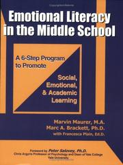 Cover of: Emotional Literacy in the Middle School by Marvin Maurer