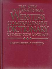Cover of: The New International Webster's Comprehensive Dictionary of the English Language; Encyclopedic Edition (Dictionaries) | Stevenson S. Smith
