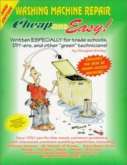 Cover of: Cheap & Easy Washing Machine Repair | Douglas Emley