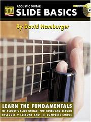Cover of: Acoustic guitar slide basics | David Hamburger