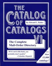 Cover of: The Catalog of Catalogs VI by Edward L. Palder