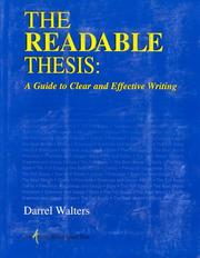 Cover of: The Readable Thesis | Darrel Walters