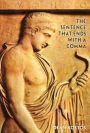 Cover of: The sentence that ends with a comma | Dean Kostos