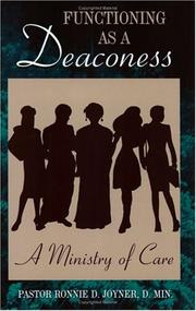 Cover of: Functioning as a Deaconess by Ronnie D. Joyner