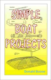 Cover of: Simple boat projects by Donald Boone