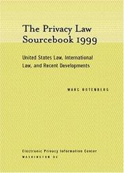 Cover of: The Privacy Law Sourcebook 1999 by Marc Rotenberg