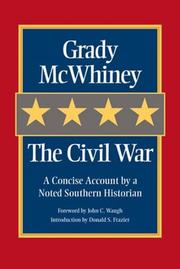 Cover of: The Civil War | Grady McWhiney