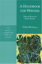 Cover of: A handbook for writers by Vern Rutsala