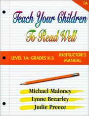 Cover of: Teach Your Children to Read Well | Mike Maloney