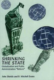 Cover of: Shrinking the state | Shields, John